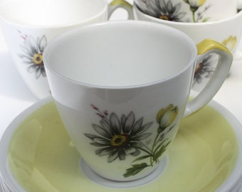 Alfred Meakin 'Glo-White' - Set of 4 Tea Cups and Saucers