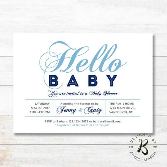 unique baby shower invitation co ed couples baby shower invitation