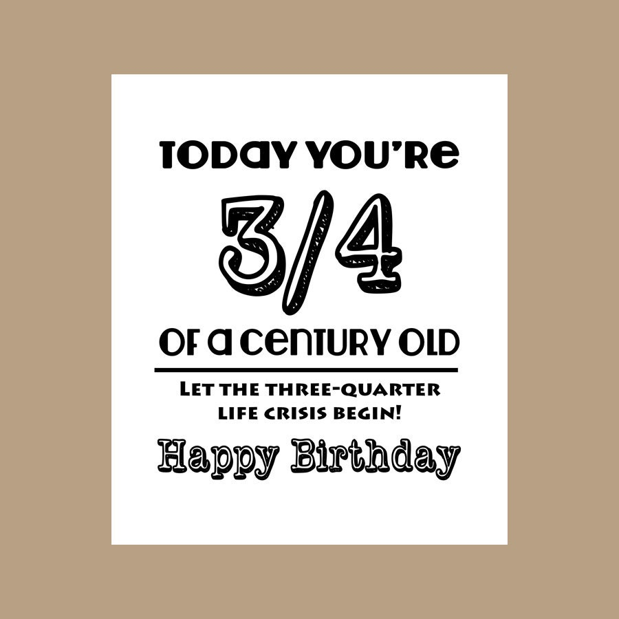 75th Birthday Card 34 Century Old Card Milestone Card 1942 – 75th Birthday Card