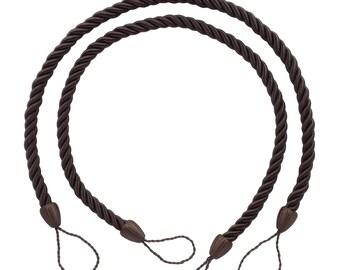 "Pair of Brown Color Rope Tiebacks, 18"" Style# CCTB Color# D2"