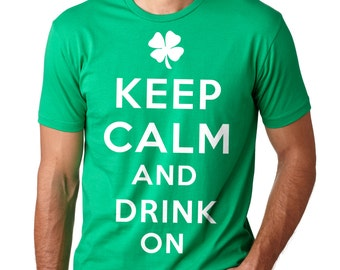 Saint Patrick's Day T-Shirt Keep Calm T-Shirt St Patrick's Day Party Shirt