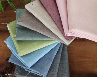 "Chambray Cotton Fabric in 11 Colors 59"" (150 cm) wide By The Yard"