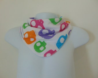 Baby Bandana Dribble Bib Multi Skulls on White bibsanddribbles
