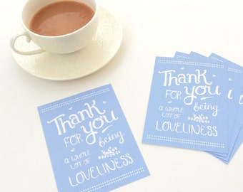 Thank You For Being A Whole Lot Of Loveliness Postcards Pack