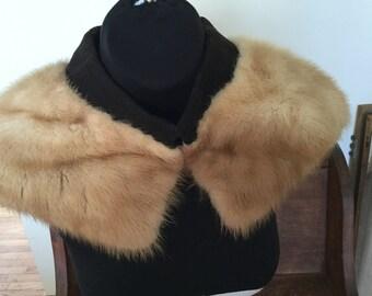 Real Fur 1950's Collar