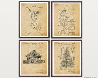 Christmas Art - Christmas Wall Art - Christmas Patent - Christmas Poster - Christmas Decor - Christmas Tree Art - Santa Patent - Santa Art