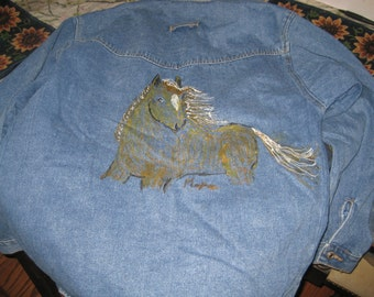 CUSTOM DENIM JACKETS- Hand Painted by Maxine D.H.