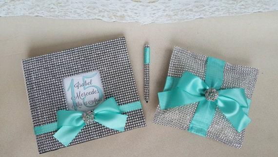 15 Anos Pillows: 3 Pc Quinceanera Guest Book Pen & Tiara Pillow Set Mis