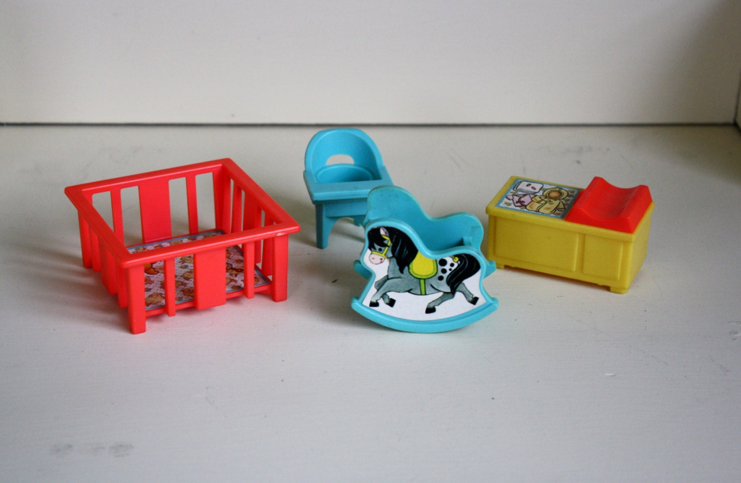 Fisher Price Little People Nursery Set Toy Furniture 1972