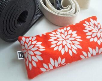 Eye Pillow - Organic Lavender & Flax - Orange Sunburst Print