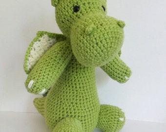 Crochet Dragon - Custom colour Amigurumi Fantasy Creature - Draco - year of the dragon - MADE TO ORDER