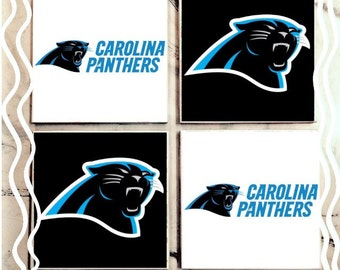 Carolina Panthers Tile Beverage Coasters