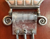 Vintage Silver and Quartz Pendent