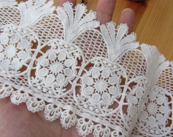 Antique lace trim, white cotton pineapple lace ,skirt Cotton lace Trim solubility lace Lace Trim Floral Lace