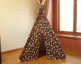Children's Robot Print Play Teepee Tent Ready to Ship