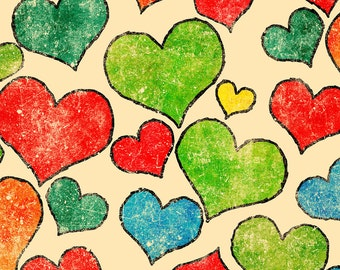 Colored Hearts Photo Backdrop *NEW