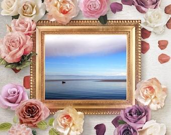 Sea photography, Fine Art Print, Baltic Sea photo, seascape print, blue wall art, nautical, Baltic, sea wall art, sea decor, boat wall art