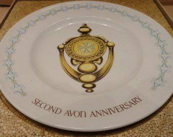 Avon Second Anniversary Plate