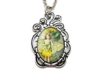 Celandine Flower Fairy Necklace Fairy Jewelry Celedine Fairy  Celandine Necklace Flower Faeries Jewelry Celandine Jewelry Gifts Under 20