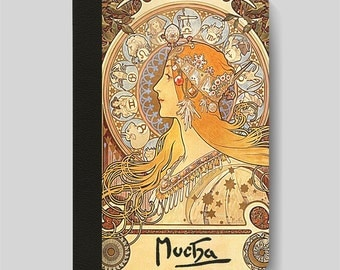 iPad Folio Case, iPad Air Case, iPad Air 2 Case, iPad 1 Case, iPad 2 Case, iPad 3 Case, iPad Mini Case - Zodiac by Alphonse Mucha iPad Case