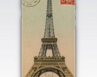 Case for iPhone 8, iPhone 6s,  iPhone 6 Plus,  iPhone 5s,  iPhone SE,  iPhone 5c,  iPhone 7  - Vintage Eiffel Tower Paris Postcard