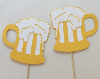 Beer Mug Photo Booth Prop Photobooth Props Set of 2