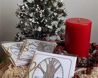 The Little Christmas Festivities CardBook®TM/Handmade Christmas Card/Handmade Card/Keepsake Card