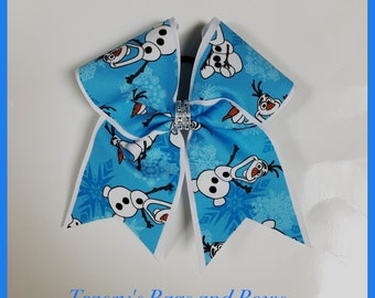 Cheer Bow~Olaf frozen inspired~Softball Bow