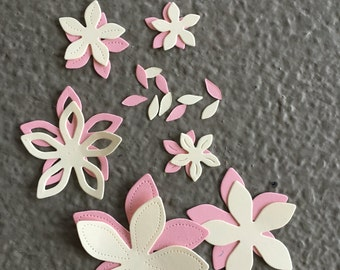 Pretty Petals #3 Paper Die Cut Flowers