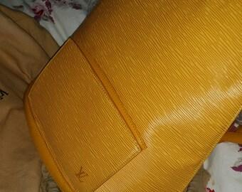 Louis Vuitton Yellow Epi Gobelins Backpack Vintage
