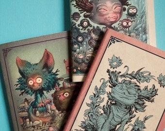 3 Blanks Sketchbooks/Notebooks set