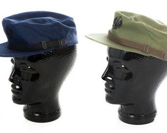 New Unissued Spanish army cadet cap beret military hat blue olive baseball peaked