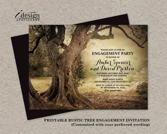 Wedding Invitations Country Theme: Items Similar To Rustic Woodland Engagement Party