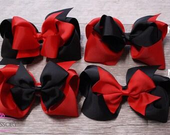 Chicago Bulls Baby,  Black Hair Bows, Red Hair Bows, NBA, Boutique Hair Bows, Basketball, Baby Girl, Gift