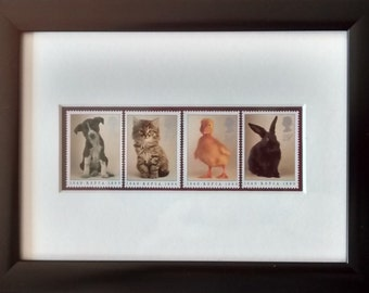 Pets framed stamps for the Anniversary of the RSPCA