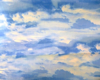 Fabric - Cloud, sky - cotton print.