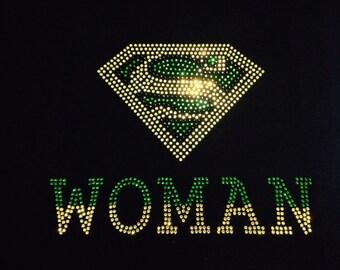 Super Woman Rhinestone Tshirt