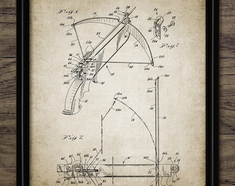 Crossbow Patent Print - Crossbow Design - Projectile Weapon Invention - Weapon - Crossbow Bolt - Single Print #2157 - INSTANT DOWNLOAD