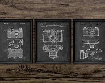 Camera Patent Print Set Of 3 - Photography - Camera Design - Camera Invention - 35mm Camera - Set Of Four Prints #2232 - INSTANT DOWNLOAD