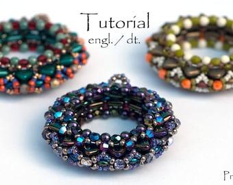 "Beading Pattern tutorial pendant bangle ""Ring Around"""