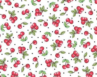 White Cherries by Quilting Treasures (24351-Z) Cotton Fabric Yardage