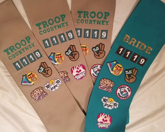 troop beverly hills custom scout sashes