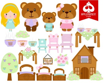 Goldilocks Digital Clipart for Personal and Commercial Use