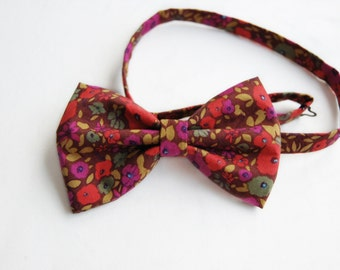 Retro Mens Bow Tie Pre Tied Floral Bow Gift For Him Adjustable Bow Ties
