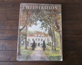 Vintage French House Magazine - L'Illustration L'Habitation from May 1939 - French Interiors /Architectural Magazine - Ideal Home
