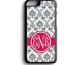 Monogram iPhone Case - iPhone 7 Case - Monogram iPhone 6 Case - Phone Case iPhone 7 Plus - iPod Touch 6 Case, Monogrammed iPhone 5 Case  134