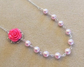 Pearl Single Strand Cabochon Necklace