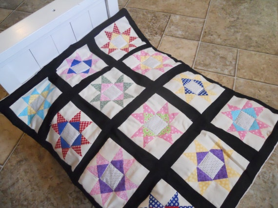Handcrafted Quilt Star Pattern 18 Inch Doll Bedding