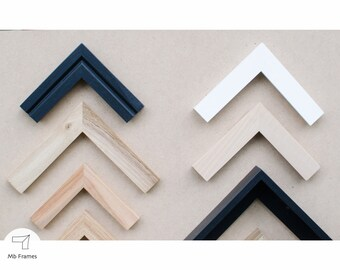 Custom picture frames- Modern decor- Frame for your artwork- Picture frame- Photo frames- Custom size- Home decoration
