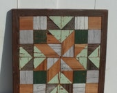 americana quilt block ,barn quilt block, salvaged wood wall decor,
